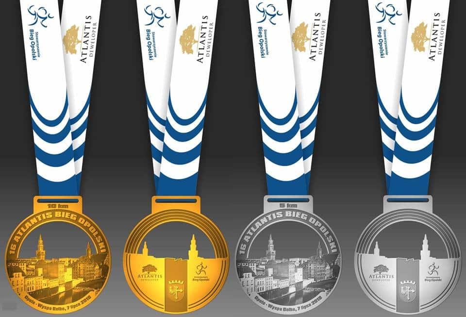 Tegoroczny medal Atlantis Bieg Opolski